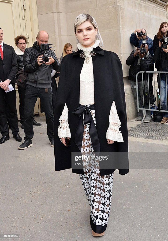 Soko attends the Chanel show as part of the Paris Fashion Week Womenswear Fall/Winter 2015/2016 on March 10, 2015 in Paris, France.