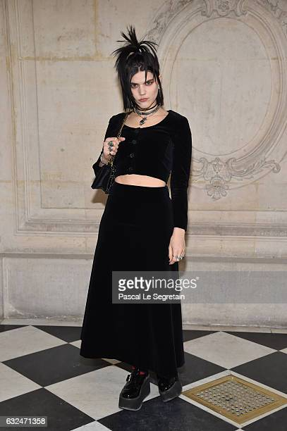 Soko attends the Christian Dior Haute Couture Spring Summer 2017 show as part of Paris Fashion Week on January 23 2017 in Paris France