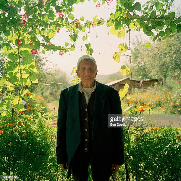 Sokol Zmajli, aged 80, at her house in Tplan where she settled permanently a few years ago. Previously she used to come to the house only in the...