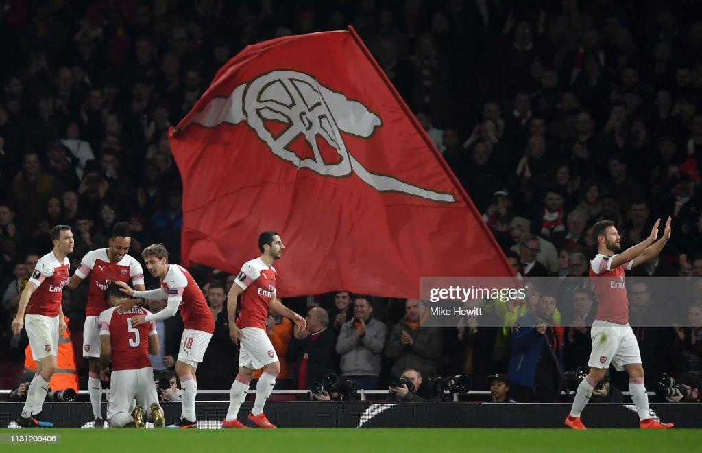 Arsenal v BATE Borisov - UEFA Europa League Round of 32: Second Leg : News Photo