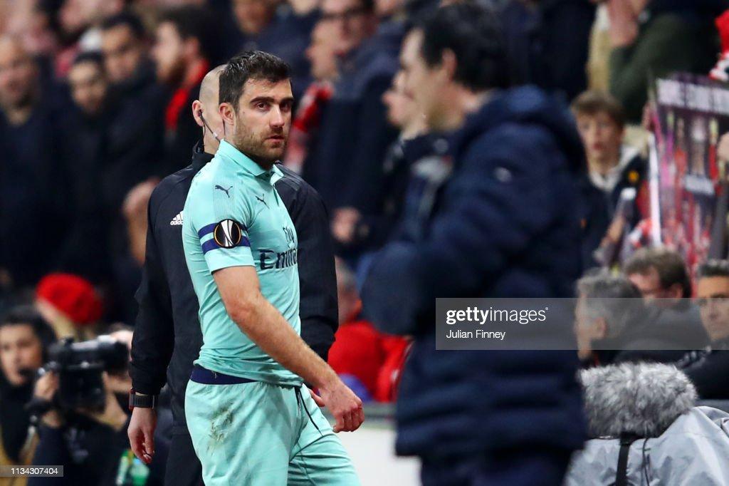 Stade Rennais v Arsenal - UEFA Europa League Round of 16: First Leg : ニュース写真