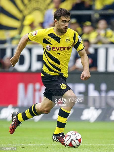 Sokratis Papastathopoulos of Borussia Dortmund during the DFL Supercup 2014 match between Bayern Munich on August 13 2014 at the Signal Iduna Park...