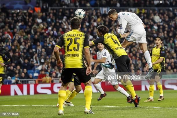 Sokratis Papastathopoulos of Borussia Dortmund Lucas Vazquez of Real Madrid Neven Subotic of Borussia Dortmund Cristiano Ronaldo of Real Madrid...