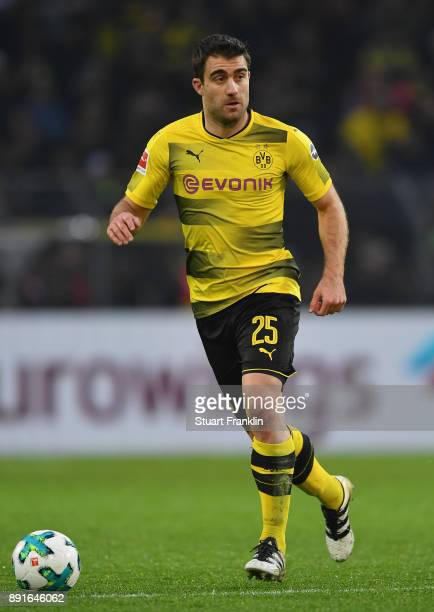 Sokratis Papastathopoulos of Dortmund in action during the Bundesliga match between Borussia Dortmund and SV Werder Bremen at Signal Iduna Park on...