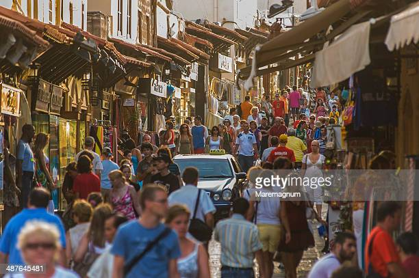 sokratous street and souleiman mosque - greece tourism stock pictures, royalty-free photos & images