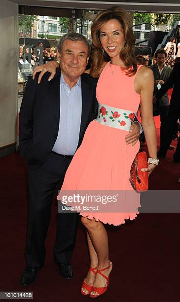 Sol and Heather Kerzner arrives at the UK film premiere of 'Sex and the City 2' at Odeon Leicester Square on May 27 2010 in London England