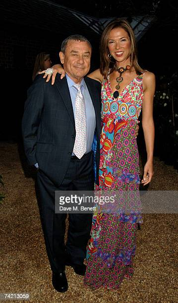 Sol and Heather Kerzner attend private dinner hosted by Cartier at the Chelsea Physic Garden on May 21 2007 in London England