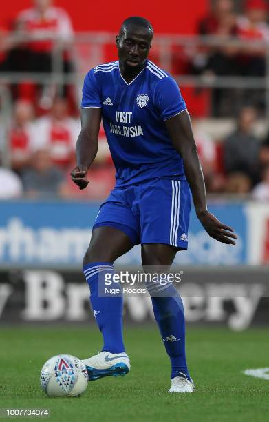 Sol Bamba of Cardiff City during the at PreSeason Friendly match between Rotherham United and Cardiff City at The New York Stadium on July 25 2018 in...
