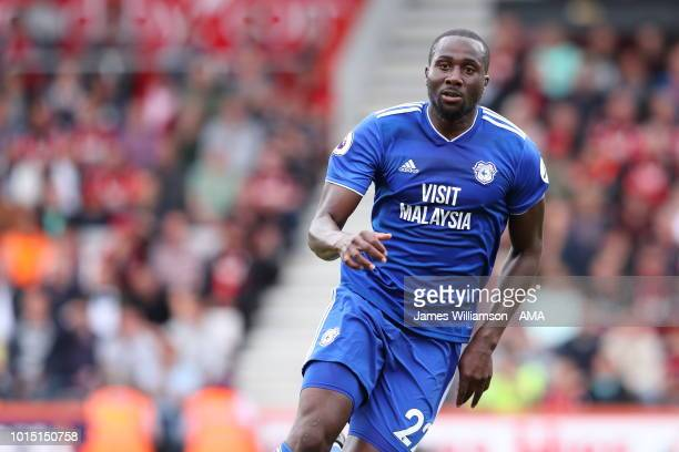 Sol Bamba of Cardiff City during the Premier League match between AFC Bournemouth and Cardiff City at Vitality Stadium on August 11 2018 in...
