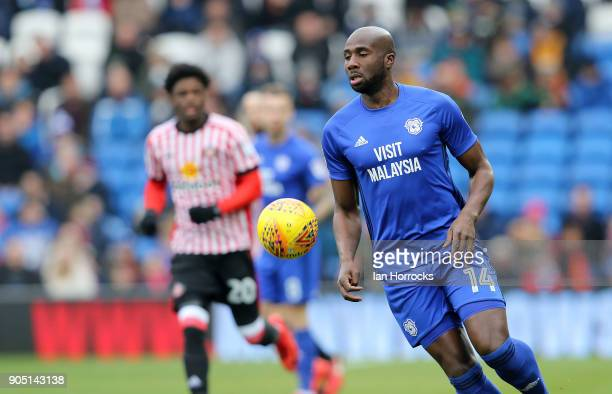 Sol Bamba of Cardiff City during the Sky Bet Championship match between Cardiff City and Sunderland at Cardiff City Stadium on January 13 2018 in...