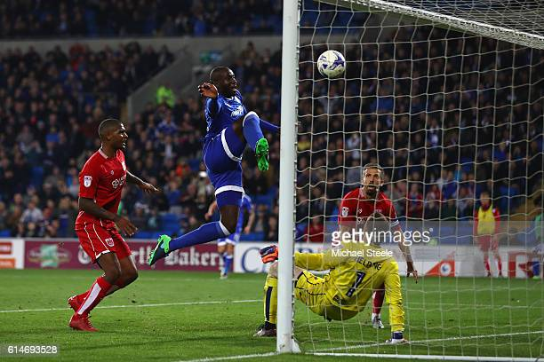 Sol Bamba of Cardiff City scores his sides second goal during the Sky Bet Championship match between Cardiff City and Bristol City at Cardiff City...