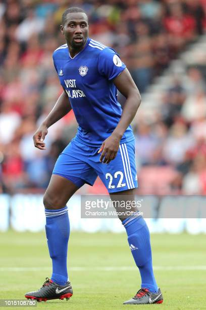 Sol Bamba of Cardiff during the Premier League match between AFC Bournemouth and Cardiff City at Vitality Stadium on August 11 2018 in Bournemouth...