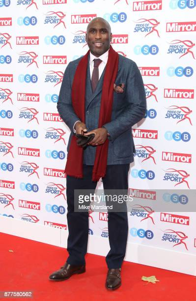 Sol Campbell attends the Pride of Sport awards at Grosvenor House on November 22 2017 in London England