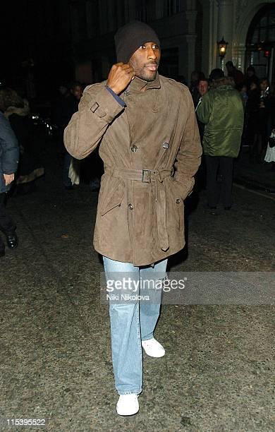 Sol Campbell during Sol Campbell Sighting at Nobu in London November 19 2005 at Nobu Restaurant in London Great Britain