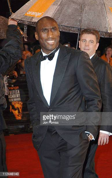 Sol Campbell during The Orange British Academy Film Awards 2006 Outside Arrivals at Odeon Leicester Square in London Great Britain