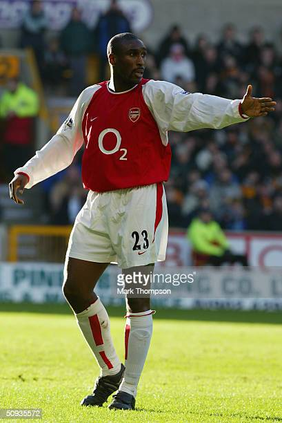 Sol Campbell of Arsenal during the FA Barclaycard Premiership match between Wolverhampton Wanderers and Arsenal at Molineux on February 7, 2004 in...