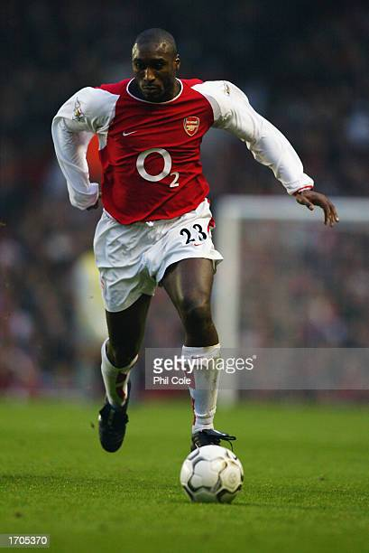 Sol Campbell of Arsenal running with the ball at his feet during the FA Barclaycard Premiership match between Arsenal and Middlesbrough held on...