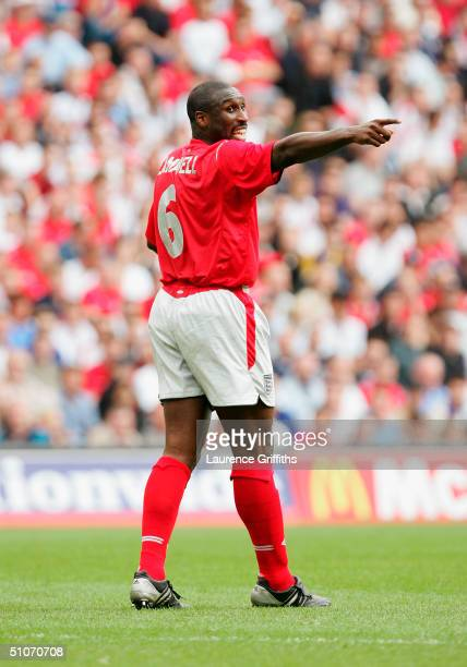 Sol Campbell of England in action during The FA Summer Tournament match between England and Iceland held on June 5 2004 at The City of Manchester...