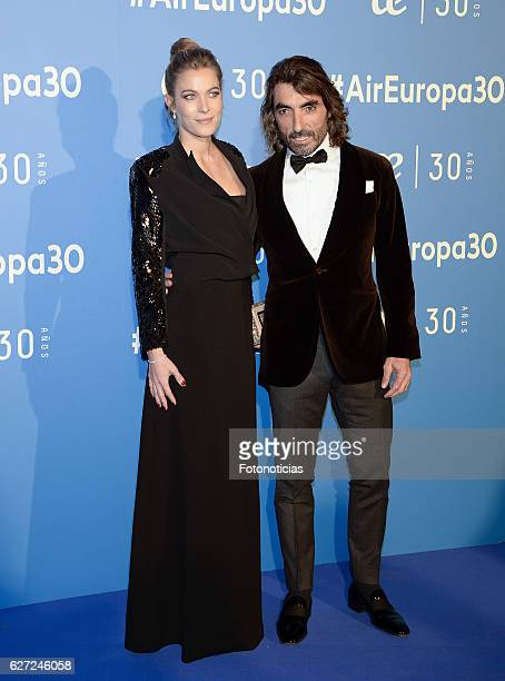 Sol Gonzalez and Javier Hidalgo attend the Air Europa 30th Anniversary Event at Palafox Cinema on December 2 2016 in Madrid Spain