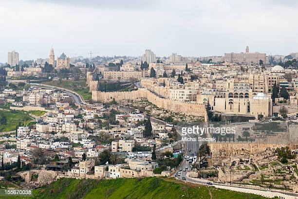 sol invictus - mount of olives stock photos and pictures
