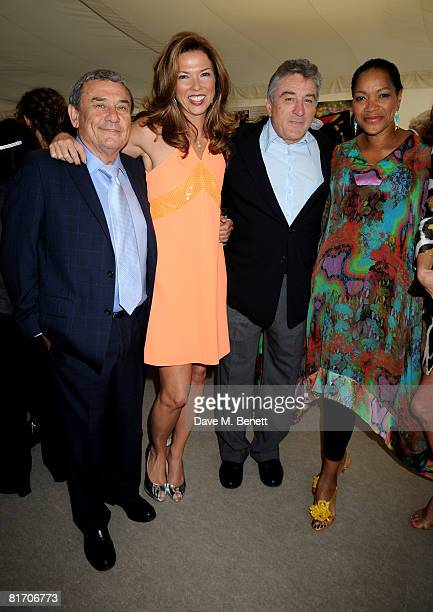 Sol Kerzner Heather Kerzner Robert De Niro with wife Grace Hightower attend the dinner in honour of Nelson Mandela celebrating his 90th birthday at...