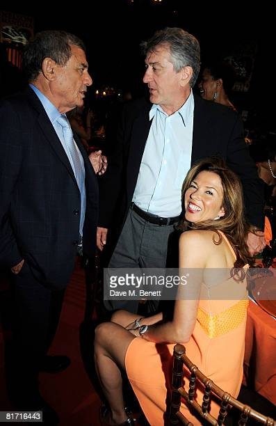 Sol Kerzner Robert de Niro and Heather Kerzner attend the dinner in honour of Nelson Mandela celebrating his 90th birthday at Hyde Park on June 25...