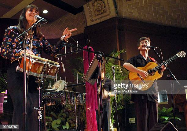 """Sol y Canto, """"Sun and Song,"""" musicans Rosi Amador and Brian Amador a melange of Lantino music at the Museum of Natural History to open Hispanic..."""