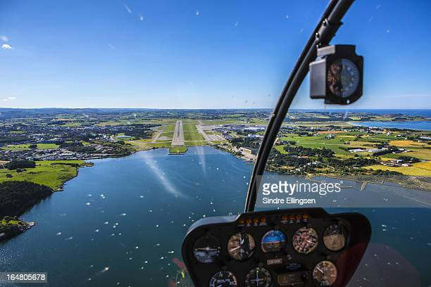 sola and sola airport, aerial shot - スタバンゲル ストックフォトと画像