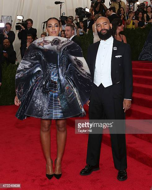 "Solange and Alan Ferguson attend ""China: Through the Looking Glass"", the 2015 Costume Institute Gala, at Metropolitan Museum of Art on May 4, 2015 in..."