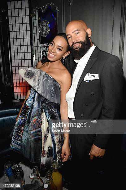 Solange and Alan Ferguson attend Rihanna's private Met Gala after party at Up Down on May 4 2015 in New York City