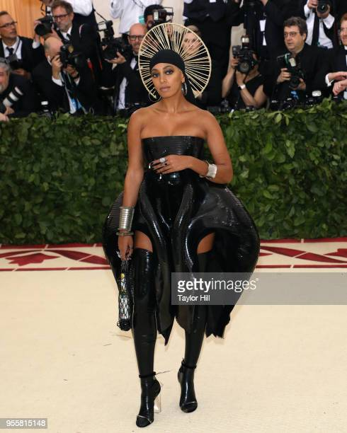 Solange attends 'Heavenly Bodies Fashion the Catholic Imagination' the 2018 Costume Institute Benefit at Metropolitan Museum of Art on May 7 2018 in...