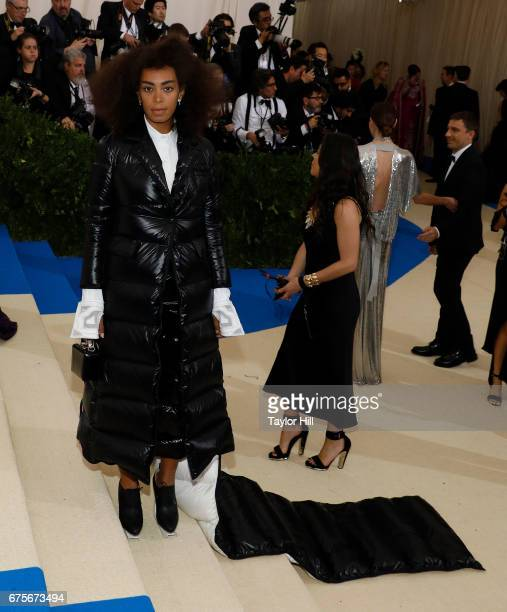 Solange attends Rei Kawakubo/Commes Des Garcons Art of the InBetween at Metropolitan Museum of Art on May 1 2017 in New York City