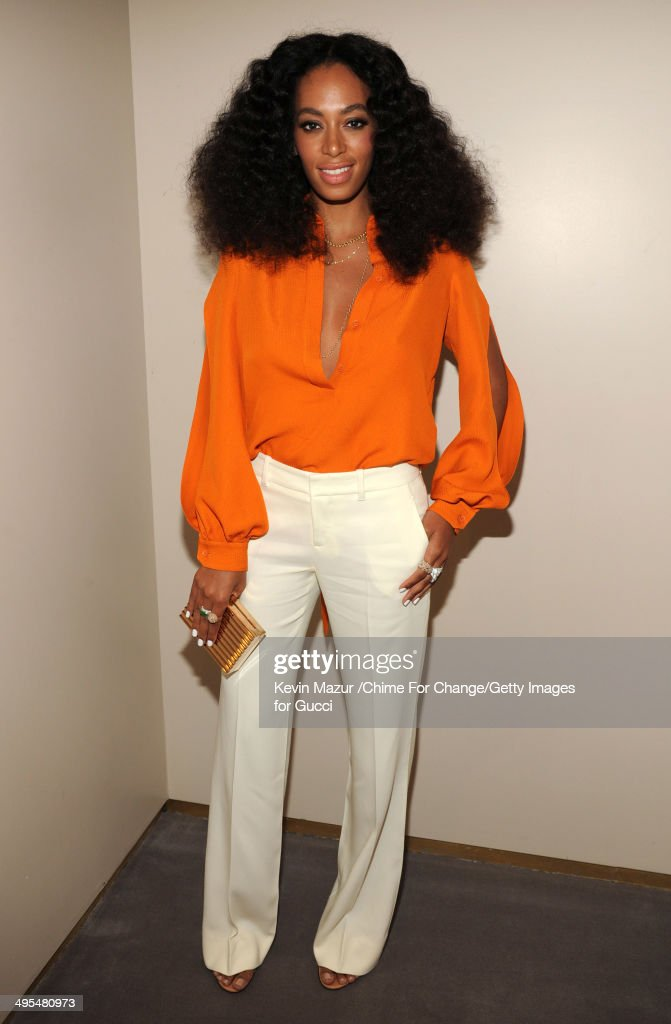 Solange attends the CHIME FOR CHANGE One-Year Anniversary Event hosted by Gucci Creative Director Frida Giannini and T Magazine Editor-In-Chief Deborah Needleman at Gucci Fifth Avenue on June 3, 2014 in New York City.