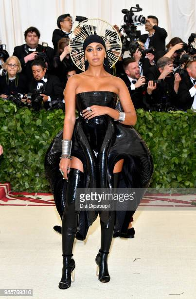 Solange attends the Heavenly Bodies: Fashion & The Catholic Imagination Costume Institute Gala at The Metropolitan Museum of Art on May 7, 2018 in...