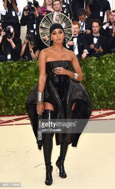Solange attends the Heavenly Bodies Fashion The Catholic Imagination Costume Institute Gala at The Metropolitan Museum of Art on May 7 2018 in New...