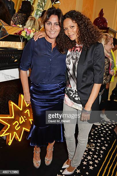 Solange AzaguryPartridge and Thandie Newton attend the Solange Azagury Partridge presentation of her first menswear jewellery collection 'ALPHA'...