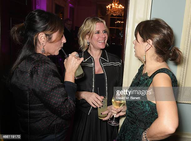 Solange AzaguryPartridge Fiona Golfar and Alexandra Shulman attend a party hosted by Vogue Editor Alexandra Shulman in honor of Lucinda Chambers at...