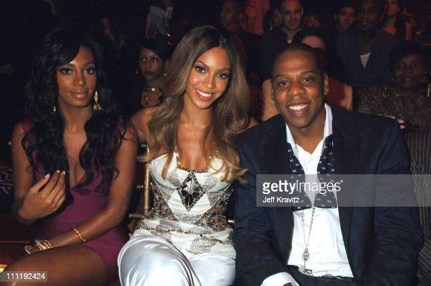 Solange Beyonce and Jay Z during 2006 MTV Video Music Awards Audience at Radio City Music Hall in New York City New York United States