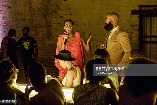 Solange Knowles and Alan Ferguson attend 'A Seat At The Table' a listening event for Solange's new album at Saint Heron House on October 7 2016 in...