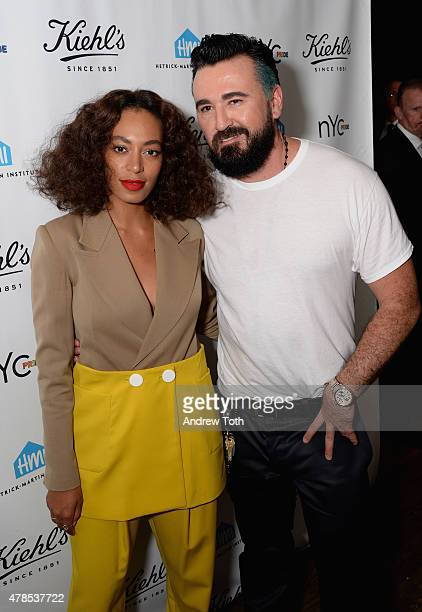 Solange Knowles and Chris Salgardo attend NYC Pride and Kiehl's Since 1851 Celebrate Pride Week 2015 at Kiehl's Since 1851 Flagship Store on June 25...