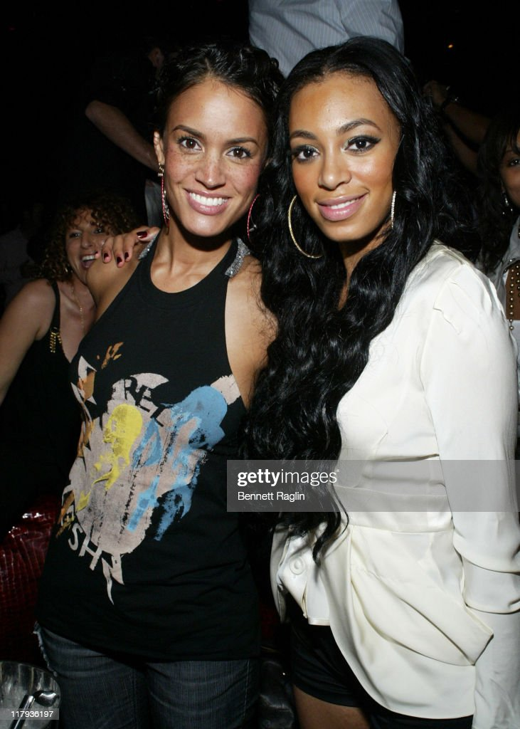 Solange Knowles(right) and guest during 2007 NBA All-Star in Las Vegas - ESPN After Dark Party Sponsor by Hennessy at Tryst at the Wynn in Las Vegas, Navada, United States.
