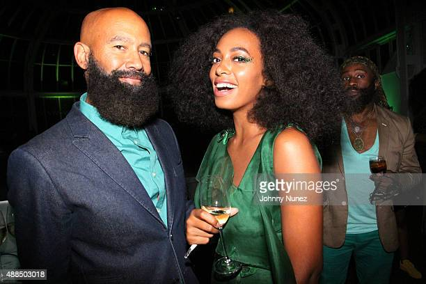 "Solange Knowles and husband Alan Ferguson attend the ""You've Got To Be Seen Green!"" Party hosted by Solange Knowles at the Brooklyn Botanical Gardens..."