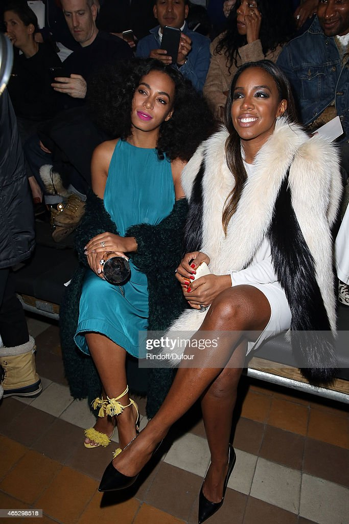 Solange Knowles and Kelly Rowland attend the Lanvin show as part of the Paris Fashion Week Womenswear Fall/Winter 2015/2016 on March 5, 2015 in Paris, France.
