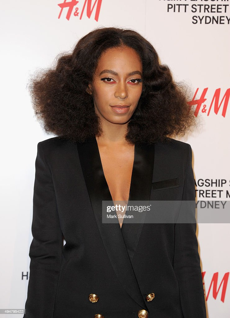 Solange Knowles arrives at the H&M Sydney Flagship Store VIP Party on October 29, 2015 in Sydney, Australia.