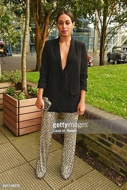 Solange Knowles attends a private dinner hosted by Michael Kors to celebrate the new Regent Street Flagship store opening at The River Cafe on June...