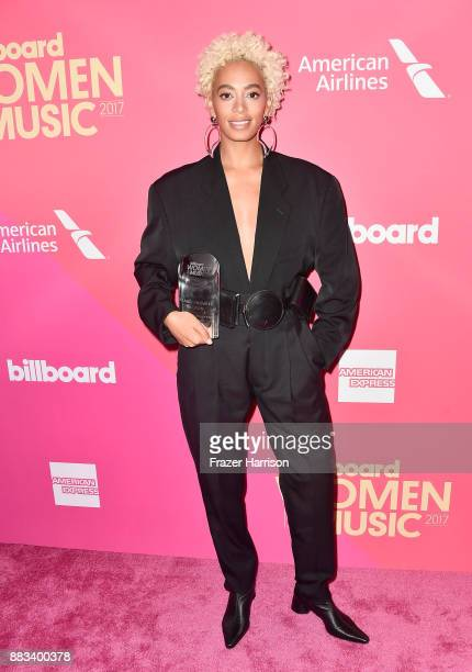 Solange Knowles attends Billboard Women In Music 2017 at The Ray Dolby Ballroom at Hollywood Highland Center on November 30 2017 in Hollywood...