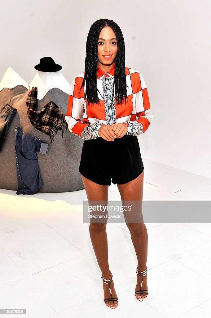 Solange Knowles attends eBays launch of new features during its Future of Shopping event at Industria Studios on October 22, 2013 in New York City.