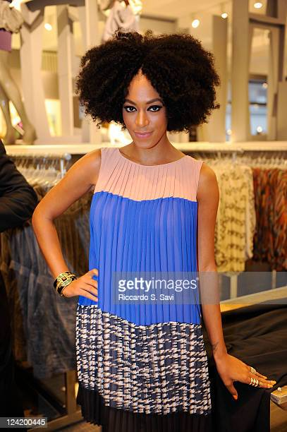 Solange Knowles attends Fashion Night Out at Lord Taylor on September 8 2011 in New York City