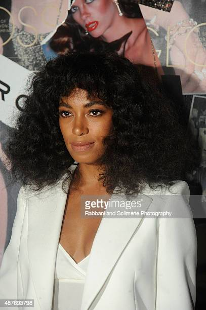 Solange Knowles attends Gloss The Work Of Chris Von Wangenheim' Book Launch Party at The Tunnel on September 10 2015 in New York City