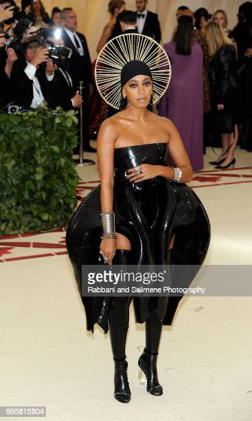 Solange Knowles attends Heavenly Bodies Fashion The Catholic Imagination Costume Institute Gala a the Metropolitan Museum of Art in New York City